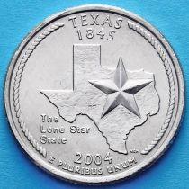 США 25 центов 2004 год. Техас.