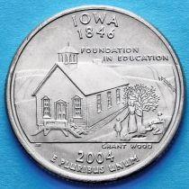США 25 центов 2004 год. Айова.