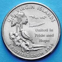 США 25 центов 2009 год. Американские Виргинские острова. Р.