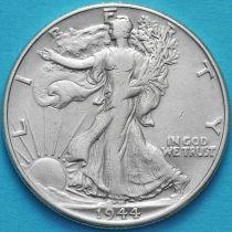 США 50 центов 1944 год. Серебро.
