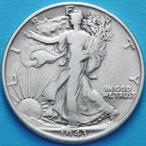 США 50 центов 1943 год. Серебро.