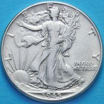 США 50 центов 1945 год. Серебро.