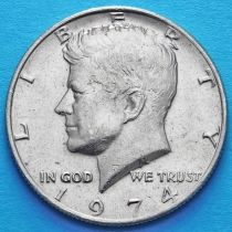 США 50 центов 1974 год. Без отметки монетного двора. Кеннеди.