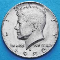 США 50 центов 1980 год. D. Кеннеди.