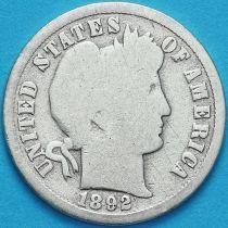 США дайм Барбера (10 центов) 1892 год. Новый Орлеан. Серебро.
