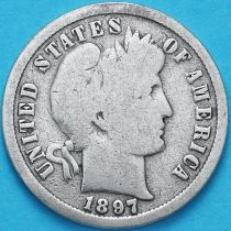 США дайм Барбера (10 центов) 1897 год. Сан-Франциско. Серебро.