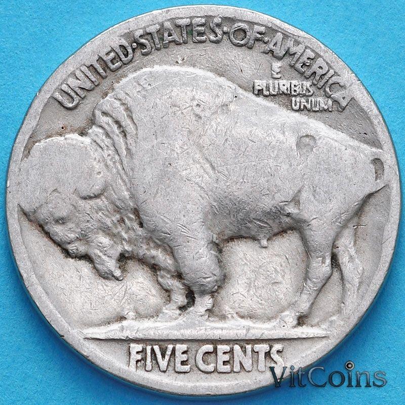 Монета США 5 центов 1920 год. Buffalo Nickel