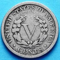 США 5 центов 1901-1910 год.