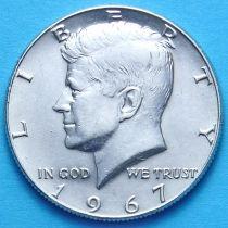 США 50 центов 1967 год. Серебро.