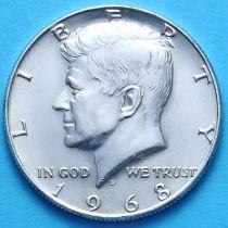 США 50 центов 1968 год. Серебро.