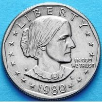 США 1 доллар 1980 год. Р. Сьюзен Энтони.