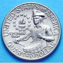 США 25 центов 1976 год. 200 лет независимости. Филадельфия.