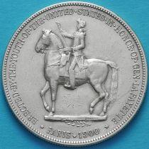 США 1 доллар 1900 год. Лафайет. Серебро.