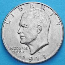 США 1 доллар 1971 год. Эйзенхауэр. D.