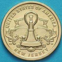 США 1 доллар 2019 год. Американские инновации. Лампа накаливания Томаса Эдисона