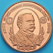 США жетон унция меди. Банкнота США 1000 долларов 1934 года.