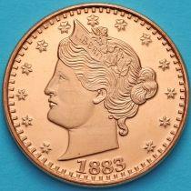 США жетон унция меди. 5 центов 1883 года.