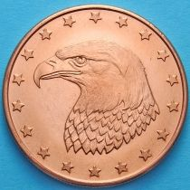 США жетон унция меди. Голова орла.