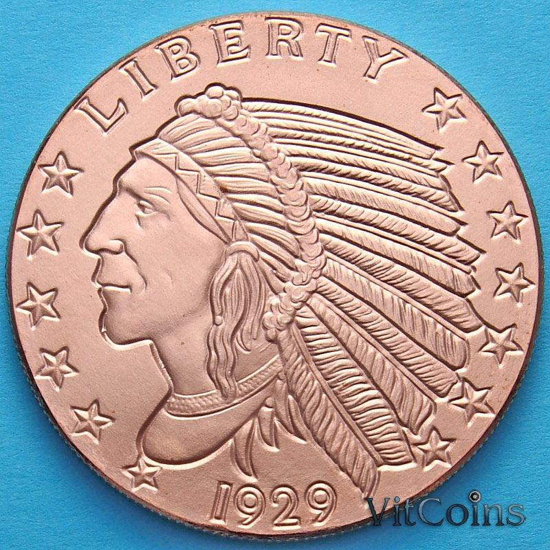 Монетовидный жетон унция меди США