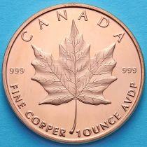 США жетон унция меди. Канадский кленовый лист.