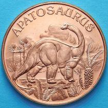 США жетон унция меди. Апатозавр