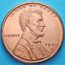 США жетон унция меди. Авраам Линкольн доллар 1909 года.