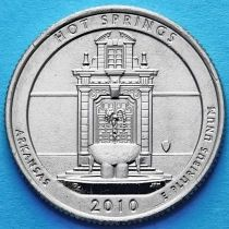 США 25 центов 2010 год. Национальный парк Хот-Спрингс. Р №1