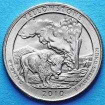 США 25 центов 2010 год. Национальный парк Йеллоустоун. D №2