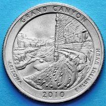 США 25 центов 2010 год. Национальный парк Гранд-Каньон. Р №4