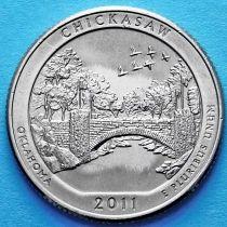 США 25 центов 2011 год. Рекреационная зона Чикасо Оклахома. Р №10