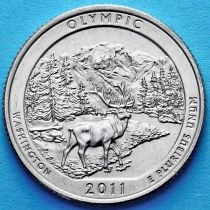 США 25 центов 2011 год. Национальный парк Олимпик. D