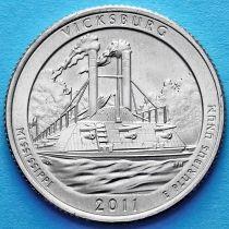 США 25 центов 2011 год. Национальный парк Виксбург. Р №9