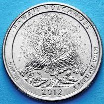 США 25 центов 2012 год. Национальный парк Гавайские вулканы. Р №14