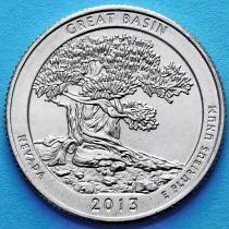 США 25 центов 2013 год. Национальный парк Грейт-Бейсин. Р №18