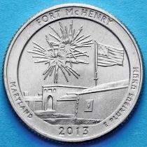 США 25 центов 2013 год. Национальный памятник Форт Мак-Генри. Р №19