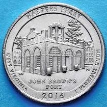 США 25 центов 2016 год. Национальный исторический парк Харперс Ферри. Р