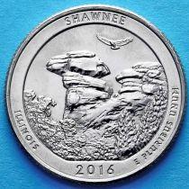 США 25 центов 2016 год. Национальный лес Шони. Р №31