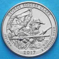 США 25 центов 2017 год. Национальный исторический парк им. Джорджа Кларка. D. №40
