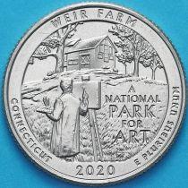 США 25 центов 2020 год. Вейр Фарм. Р.