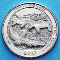 США 25 центов 2017 год. Национальный памятник Эффиджи-Маундз.