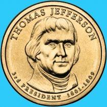 США 1 доллар 2007 год. Томас Джефферсон. Р