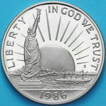 США 50 центов 1986 год. S. 100 лет Статуе Свободы.