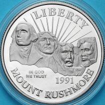США 50 центов 1991 год. S. Мемориал Рашмор.