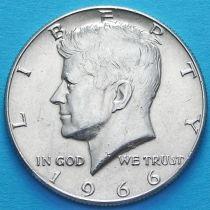 США 50 центов 1966 год. Серебро.