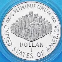 США 1 доллар 1987 год. 200 лет Конституции. Серебро. Пруф.