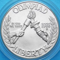 США 1 доллар 1988 год. Олимпиада в Сеуле. Серебро.