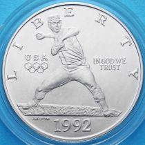 США 1 доллар 1992 год. Олимпиада в Барселоне. Серебро.