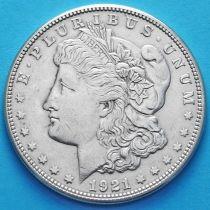США 1 доллар 1921 год. Моргановский доллар. S. Серебро.