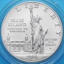 США 1 доллар 1986 год. 100 лет Статуе Свободы. Серебро.