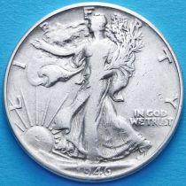 США 50 центов 1946 год. Серебро